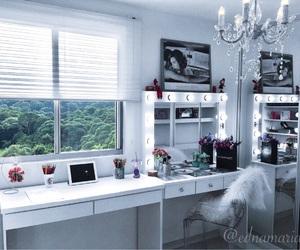 bedroom, chandelier, and closet image