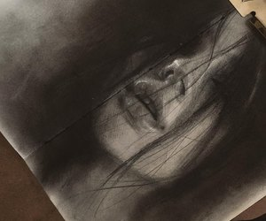 art, painting, and pencil drawings image