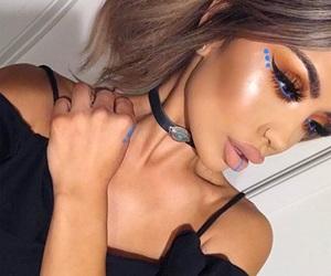 blue, makeup, and festival makeup image