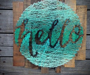decor, green, and string art image