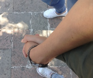couple, distance, and hands image