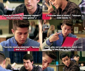 13 reasons why, clay jensen, and jeff atkins image