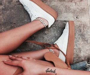 luxury, tattoo, and shoes image