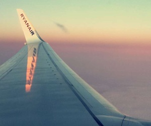 clouds, ryanair, and sunrise image