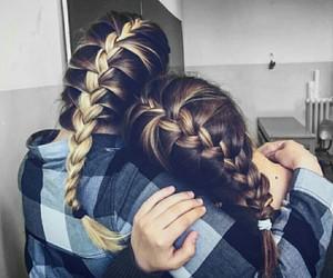 blonde, braid, and braids image
