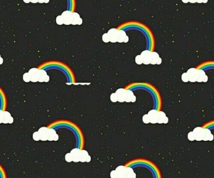 rainbow, wallpaper, and pattern image
