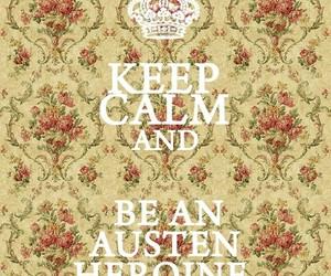 jane austen, keep calm, and austen image