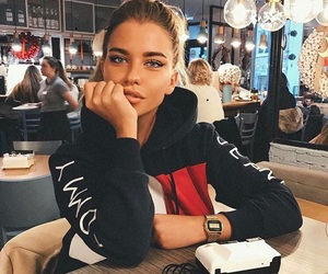 girl, fashion, and beauty image