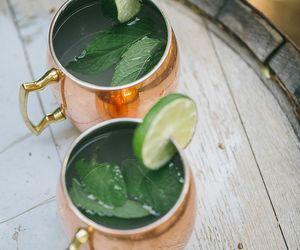 drink, lime, and tea image