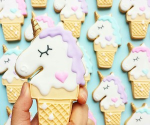 unicorn, Cookies, and sweet image