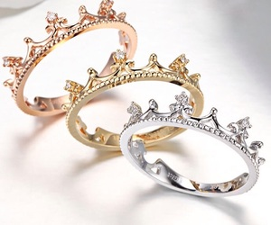crown, ring, and rose gold image