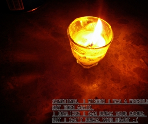 candle, typography, and love image