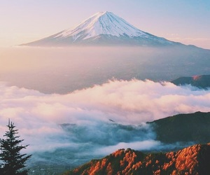 nature, japan, and mountain image