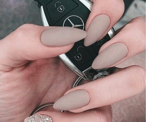 mercedes benz, nail art, and nail design image