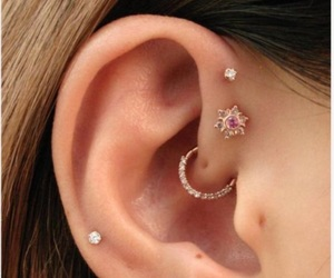 bling, ear, and earring image
