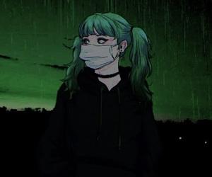 green, anime, and girl image