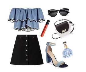 black and blue, chic, and fashion image