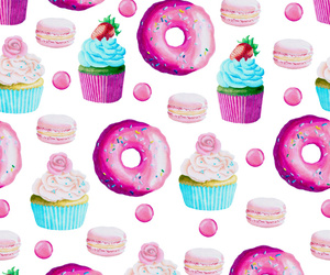 donuts, food, and pattern image