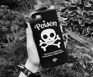 goth, poison, and phone case image
