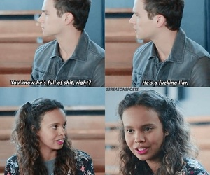 13 reasons why, jessica, and justin image