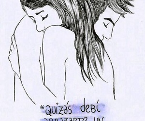 love, frases, and abrazo image