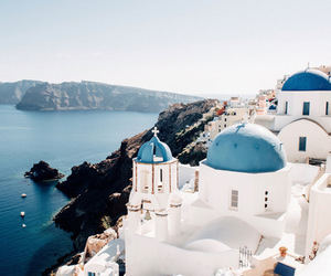 amazing, blue, and Greece image