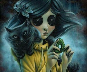 coraline, cat, and art image