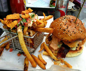 burgers, cafe, and fast food image