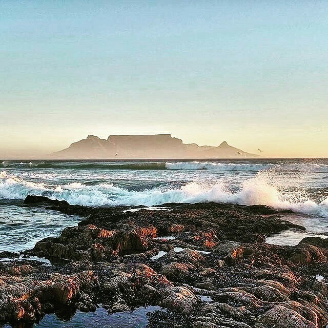 cape town, robben island, and table mountain image