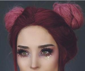 girl, make up, and hair image