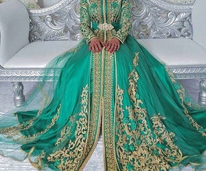 dress, oriental traditional, and kaftan caftan takchita image