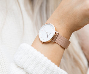 watch, accessories, and sweater image