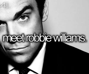 meet, Robbie Williams, and singer image