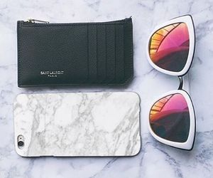 iphone, sunglasses, and fashion image