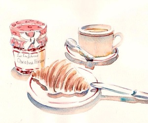 food, jam, and croissant image