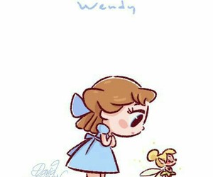 disney, wendy, and peter pan image