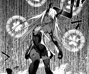anime, black and white, and demon image