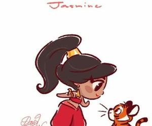 disney, jasmine, and aladdin image