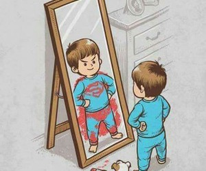 superman, boy, and Dream image