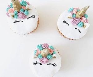 cupcake, cupcakes, and unicorn image