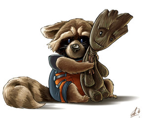 groot, rocket, and Marvel image