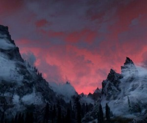 sky, mountains, and nature image