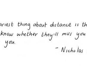 quotes, distance, and nicholas sparks image