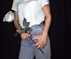 fashion, rose, and grunge image