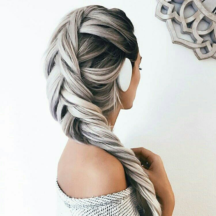 hair, beauty, and braid image