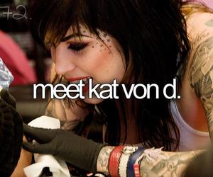 kat von d and bucket list image