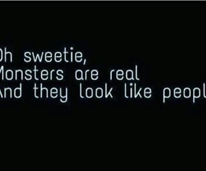 quotes, monster, and people image