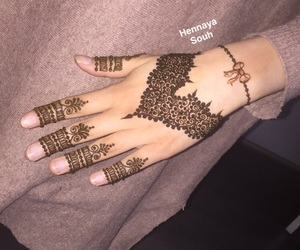 classy, henna, and tradition image