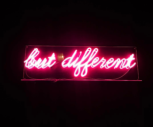 different, light, and neon image