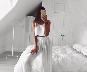 fashion, white, and girl image